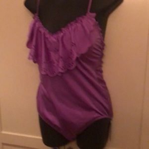 Sea fully purple swim suit size 12